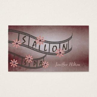 Reizend eindrucksvoller schicker Blumenfilmstrip Visitenkarte