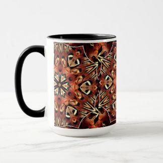 Reizend Fasan versieht Kaleidoskop mit Federn Tasse