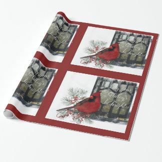 Reizend Feiertags-Kardinal auf Zufuhr Geschenkpapier