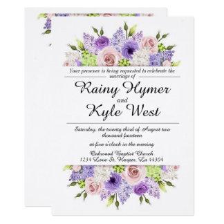 Reizend in der Lavendel-Hochzeits-Einladung Karte