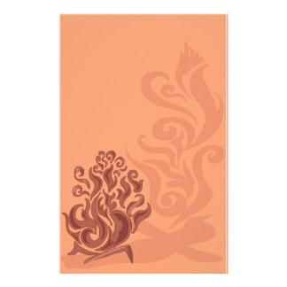 Reizend kupfernes Feuer-Briefpapier Individuelle Druckpapiere