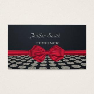 Reizend nette elegante rote Bogen-Tupfen Visitenkarte