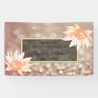 Reizend romantisches Aquarell Blumenbokeh Hochzeit Banner