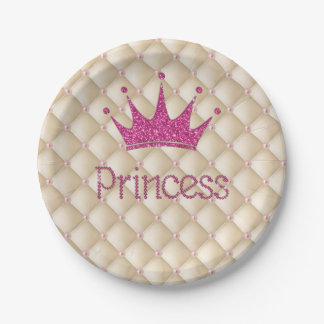 Reizend schicke Perlen, Tiara, Prinzessin, Pappteller
