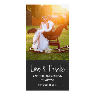 Reizend Tafel-Hochzeit danken Ihnen Foto-Karte Foto Karten Vorlage