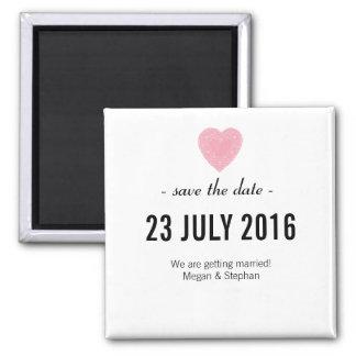 Reizend u. einfach Save the Date Wedding Magneten Quadratischer Magnet