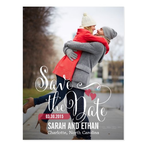 Reizende Antrag-Save the Date Postkarte
