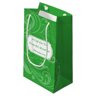 Reizende Aufkleber-grüne Feiertags-Eleganz Kleine Geschenktüte