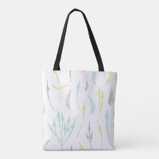 Reizende Blätter- und Zweig-Taschentasche Tasche