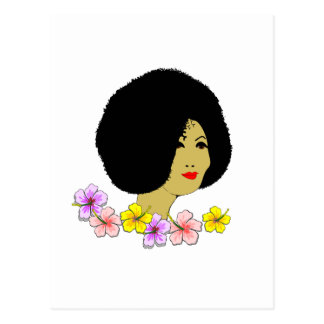 Reizende Dame Postkarte