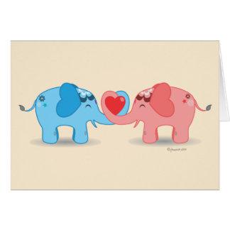 Reizende Elefanten Karte