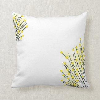 Reizende gelbe Blumen, die Throw-Kissen zeichnen Kissen