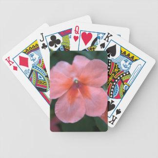 Reizende gemeine rosa Garten-Blumen. BlumenFoto Bicycle Spielkarten
