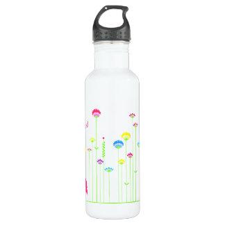 Reizende Henne und Blumen Trinkflasche