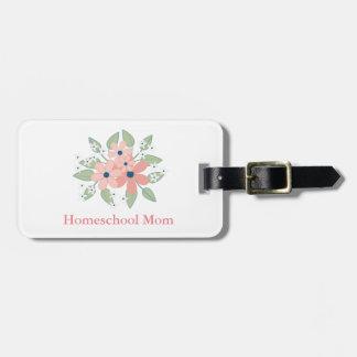 Reizende Homeschool Mamma mit Blumen Gepäckanhänger