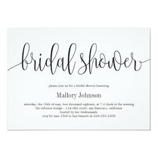 Reizende Kalligraphie-Brautparty-Einladung Karte