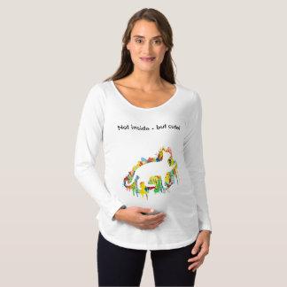 Reizende Katzen-buntes Malerei-Spritzen Schwangerschafts T-Shirt