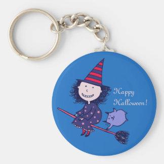 Reizende kleine Hexe Halloween Keychain Schlüsselanhänger