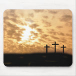 """Reizende Kreuze und Sonnenuntergang """"er ist gestie"""