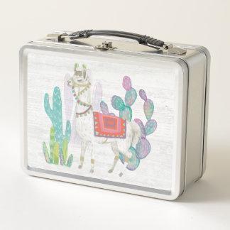 Reizende Lamas V Metall Lunch Box