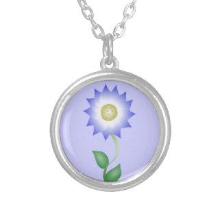 Reizende lila Blume Halskette