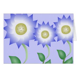 Reizende lila Blume Grußkarte