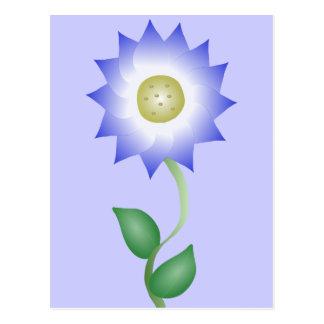Reizende lila Blume Postkarte