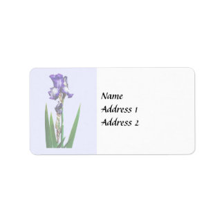 Reizende lila Iris Adressaufkleber