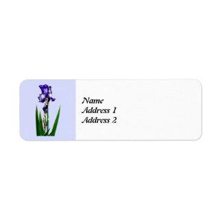 Reizende lila Iris Save the Date