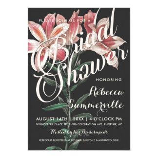 Reizende Lilien-botanische Brautparty-Einladungen Karte