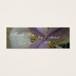 Reizende Lilien-Hochzeit Mini Visitenkarte