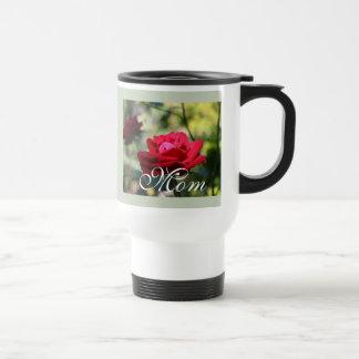 Reizende reine Rosen-Reise-Tasse Reisebecher