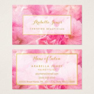 Reizende rosa Blütenzugelassener Blumenbeautician Visitenkarte