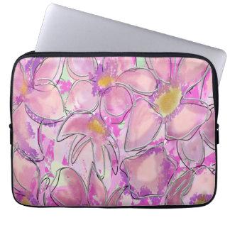 Reizende rosa Vintage mit Blumenhülse Laptop Schutzhüllen