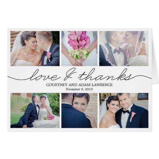 Reizende Schreibens-Hochzeit danken Ihnen, - Weiß  Karten