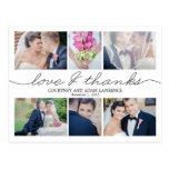 Reizende Schreibens-Hochzeit danken Ihnen, - Weiß  Postkarten