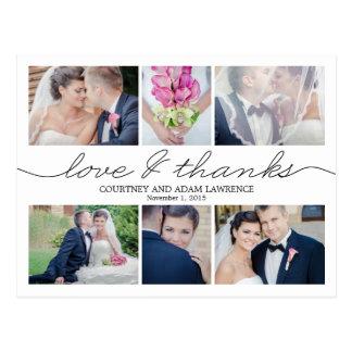 Reizende Schreibens-Hochzeit danken Ihnen, - Weiß Postkarte