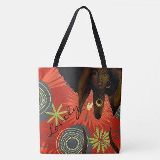 reizende Taschentasche der schwarzen Frau Tasche