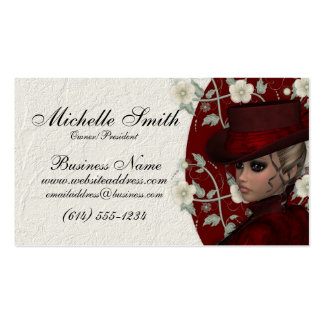 Reizende viktorianische Geschäfts-Karten der Fraue Visitenkarten