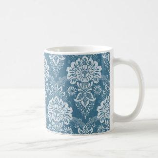 Reizende Vintage blaue Blumenverzierung