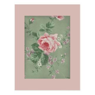 Reizende Vintage viktorianische Rose Postkarte