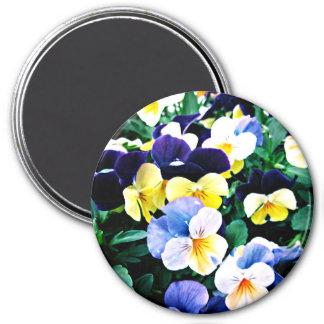 Reizende Viola Runder Magnet 7,6 Cm