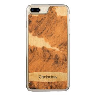 Reizender handgemachter Horn-Rindleder-Druck Texas Carved iPhone 8 Plus/7 Plus Hülle