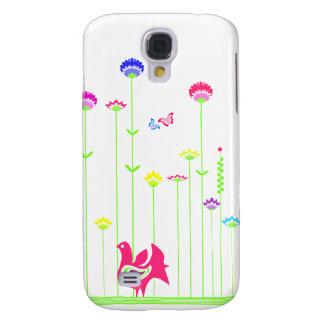 Reizender Henne und Blumen iPhone 3 Fall Galaxy S4 Hülle