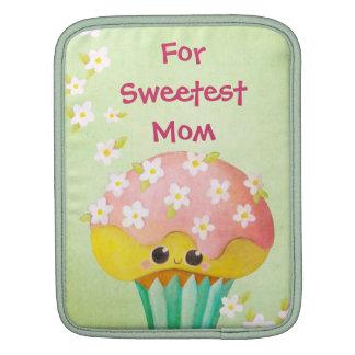 Reizender kleiner Kuchen der Mutter Tages- kundens iPad Sleeves