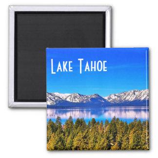 Reizender Lake- Tahoemagnet Quadratischer Magnet