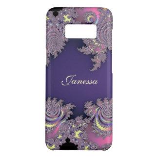 Reizender Lavendel-lila Fraktal personalisiert Case-Mate Samsung Galaxy S8 Hülle