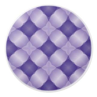 Reizender Lavendel und lila Gitter-Digital-Entwurf Keramikknauf