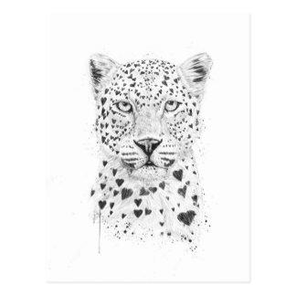 Reizender Leopard Postkarte