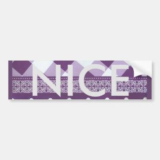 Reizender lila checkered Damast-nahtloses Muster Autoaufkleber
